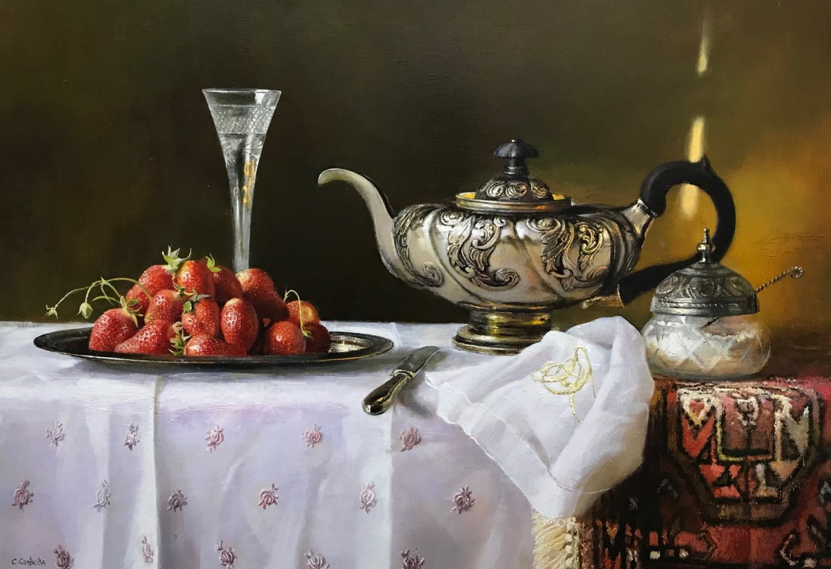 """Still life with strawberries"""