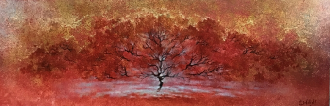 """Landscape in red"""