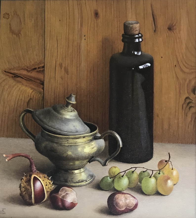 """Still life with grapes"""