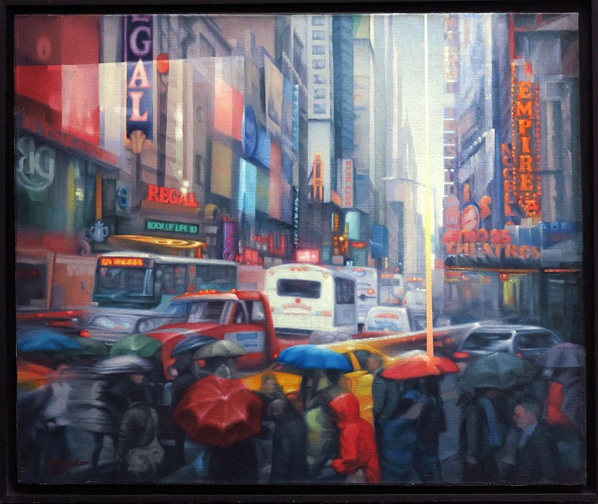 """New York, Rain over Broadway"""