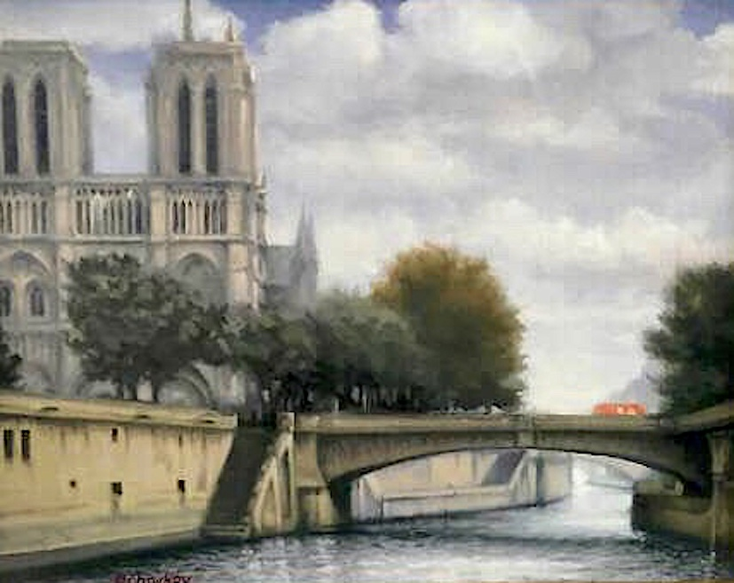 """Paris, the little bridge"""