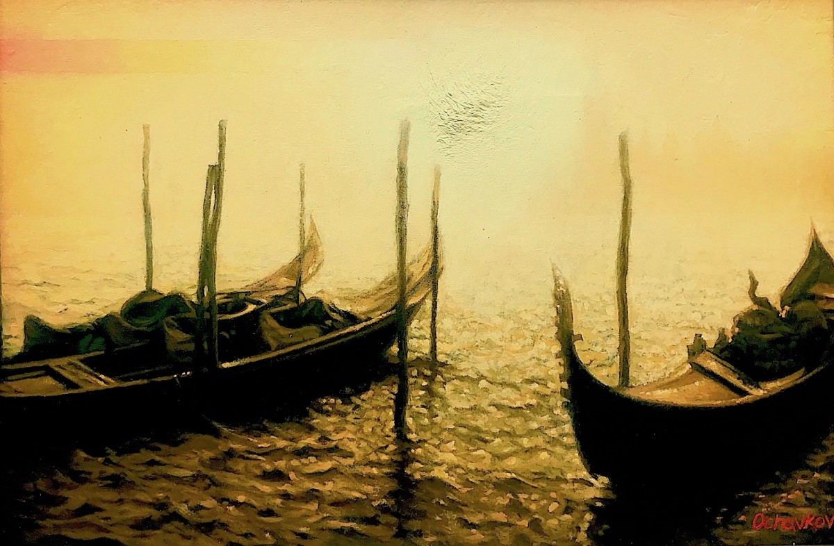 """Venice, the three gondolas"""