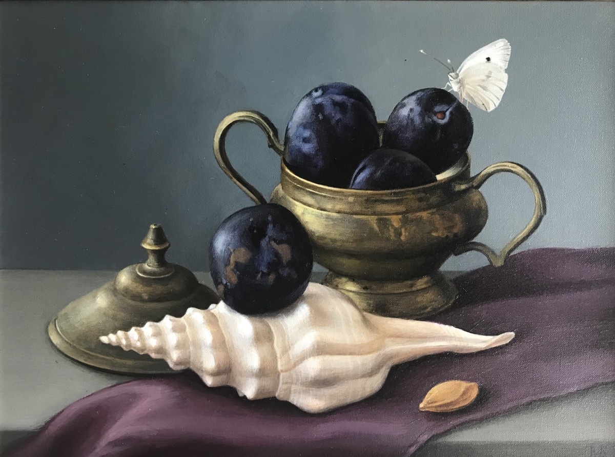 """Still Life with Plums"""